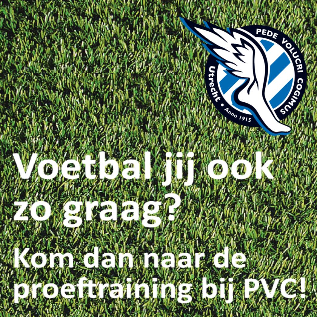Doe mee met de proeftraining bij PVC!