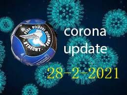 Corona update 28 februari 2021