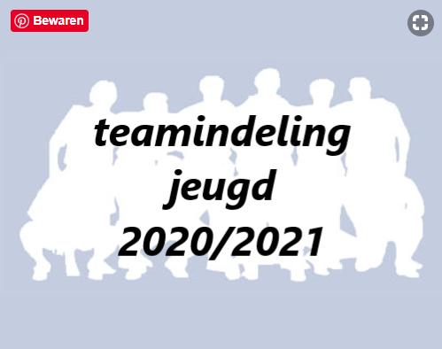Teamindeling seizoen 2020/2021